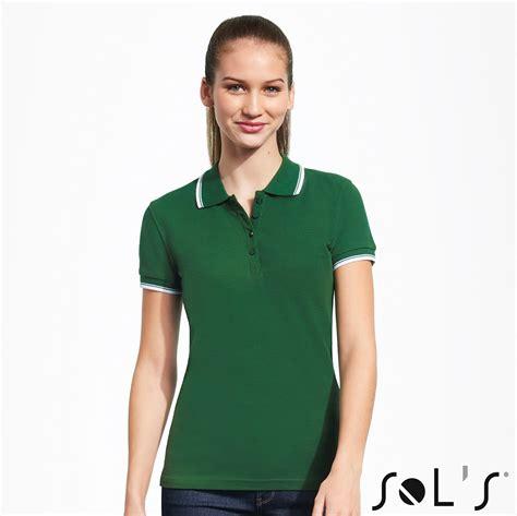 Sieviešu polo krekls ar kontrastlīniju • Ideju druka