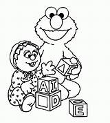 Coloring Elmo Pages Alphabet Popular sketch template