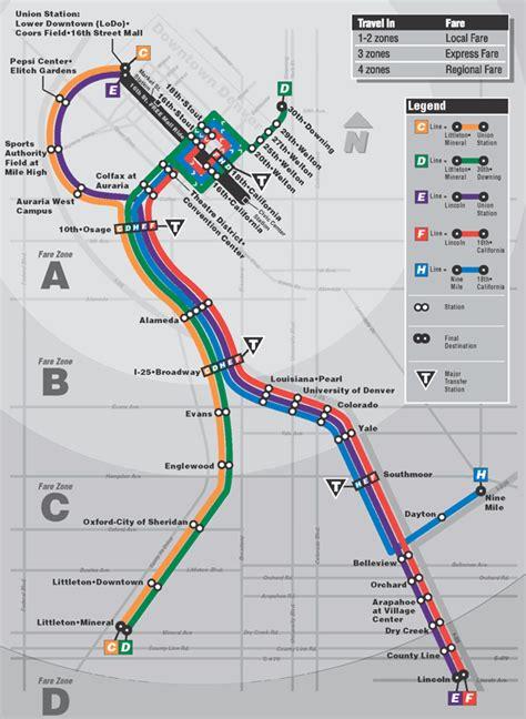 light rail map denver denver co rtd light rail system