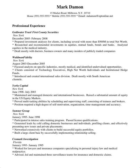 best 25 free resume sles ideas on cv