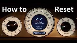 Service Interval Reset Mercedes-benz W209 Clk W203 C 2004-2009