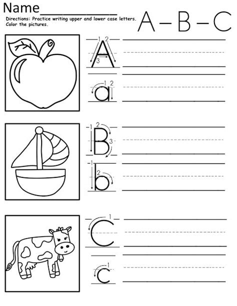 preschool review review alphabet worksheet for kindergarten the alphabet 246