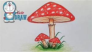 How to draw mushroom step by step (very easy) - YouTube