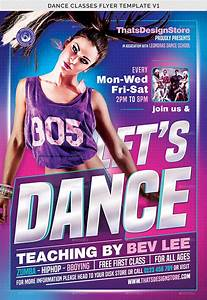 Dance Classes Flyer Template V1 By Lou606