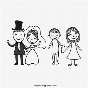 Dessin Couple Mariage Couleur : mariage couples dessin t l charger des vecteurs gratuitement ~ Melissatoandfro.com Idées de Décoration