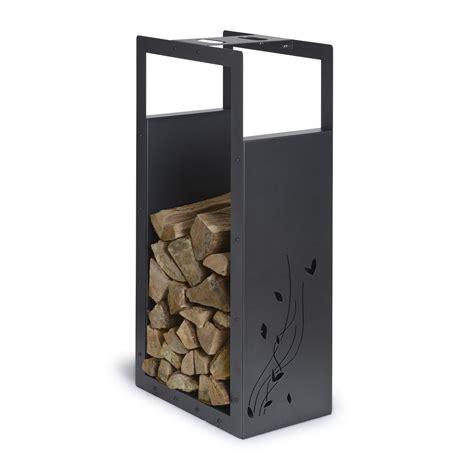 rangement pour bois acier laqu 233 noir sabl 233 equation h 100
