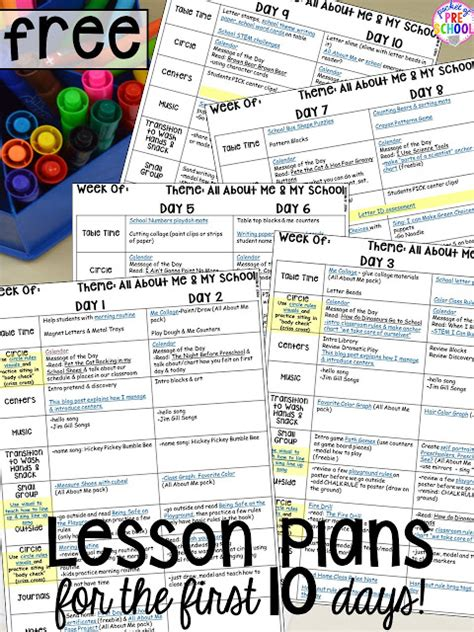 lesson plans for the 10 days of school the tpt 593 | Slide1 5