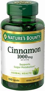 Amazon Com  Nature U0026 39 S Bounty Cinnamon 1000 Mg  100 Capsules  Pack Of 3   Health  U0026 Personal Care