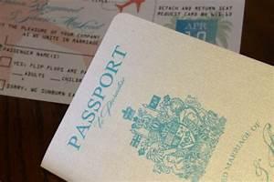 diy passport wedding invitations template yaseen for With handmade passport wedding invitations