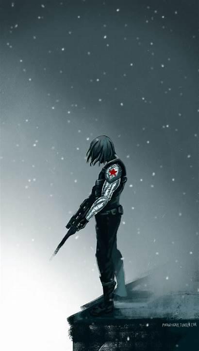 Soldier Winter Bucky Marvel Iphone Barnes Avengers