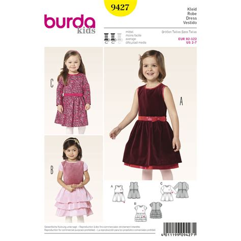 patron robe de chambre pattern for burda style toddlers simplicity