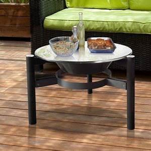 Brasero De Jardin : brasero bois efp5 de purline une table basse et un chauffage de terrasse cologique ~ Teatrodelosmanantiales.com Idées de Décoration