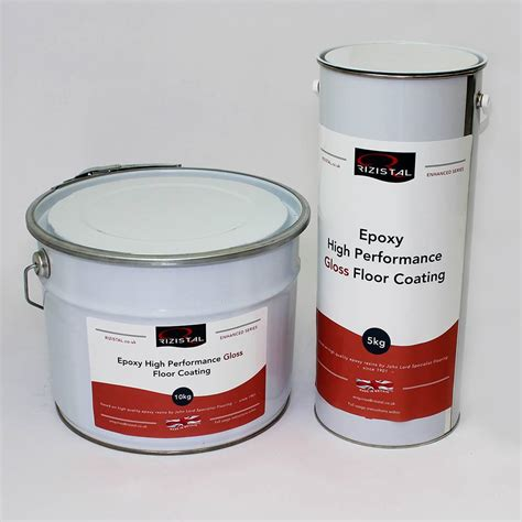 Rizistal Epoxy Gloss Floor Paint Coating  9 Colours