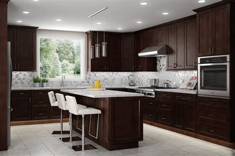 espresso and white kitchen cabinets cabinet express atlanta s largest kitchen cabinet showroom 8875
