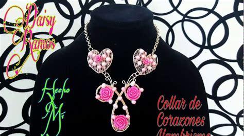Collar de Corazones Alambrismo DIY YouTube