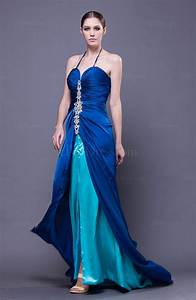 elegant halter sleeveless backless court train wedding With halter dress for wedding guest