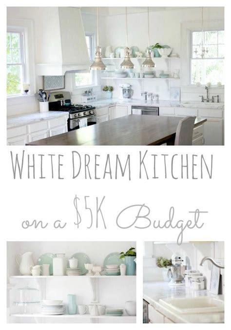 white kitchen on a tight budget
