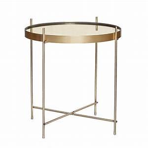 Table Basse Dorée : table basse dor e deco or carre blanc ~ Teatrodelosmanantiales.com Idées de Décoration