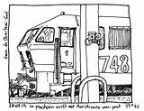 Train Locomotive Transportation Coloring Pages Printable Drawing Kb Drawings sketch template