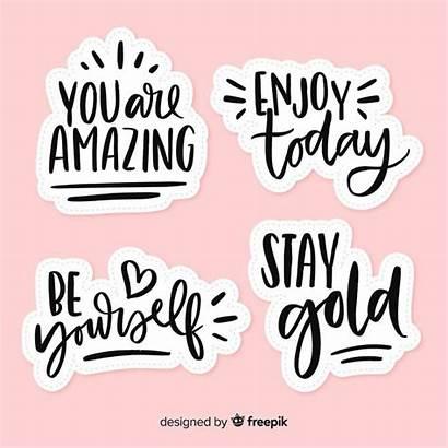 Stickers Motivational Lettering Aesthetic Printable Scrapbook Freepik