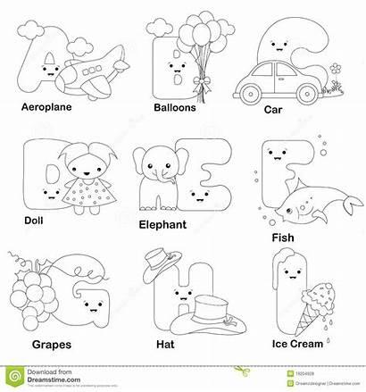 Alphabet Coloring Letters Printable Worksheets Preschool Letter