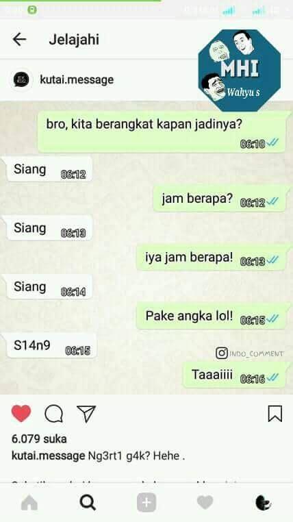 meme obrolan lucu  whatsapp  bakal bikin kamu