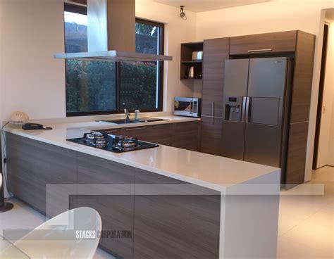 modern home  minimalist kitchen materials detailed