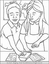 Coloring Rice Lent Bowl Catholic Children Thecatholickid Christian Kid During Cartoon Ash Wednesday Lenten Putting Money Christopher Printable Saint sketch template