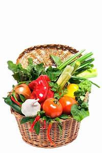 Fresh vegetables in basket isolated on white | Stock Photo ...