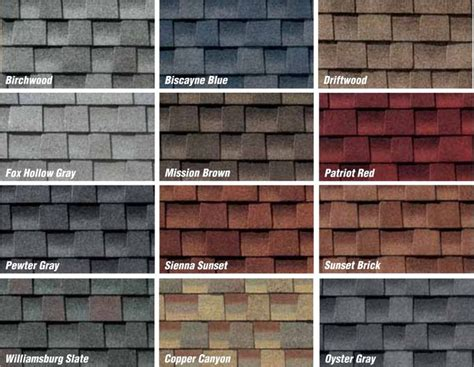 shingle colors architectural roofing shingles architectural roofing
