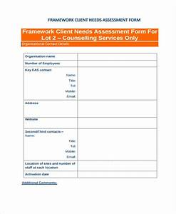 needs assessment form template With client analysis template