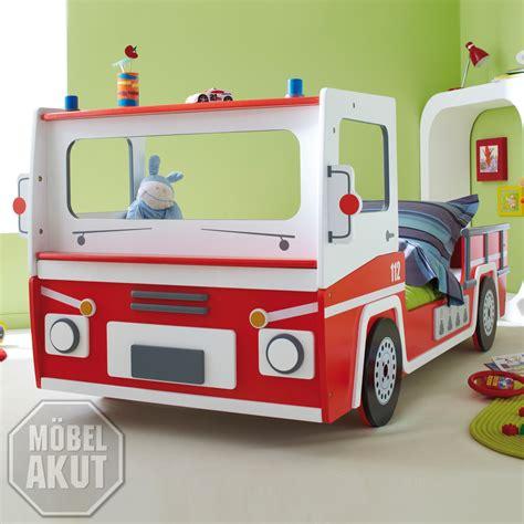 Autobett Feuerwehr Truck, Bett Kinderbett Rot Weiß! Ebay