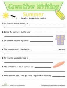 Summer Worksheets for 1st Grade Writing