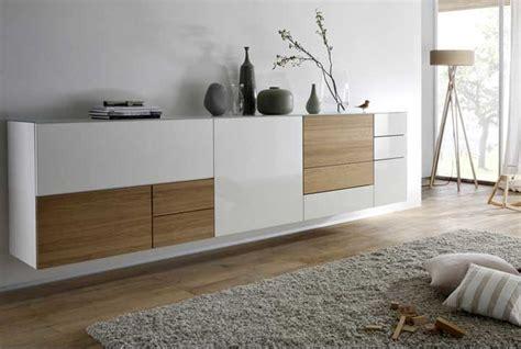 Tolle Sideboard Wandhangend Design by Tolle Sideboard Wei 223 Hochglanz Mit Holz Wohnzimmer In