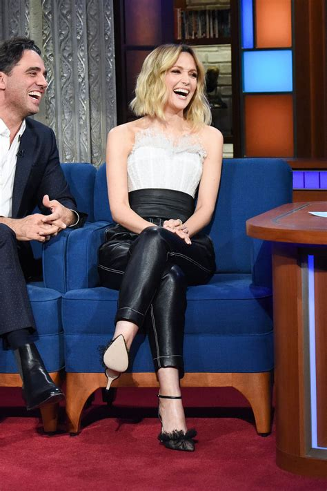 rose byrne attends  late show  stephen colbert