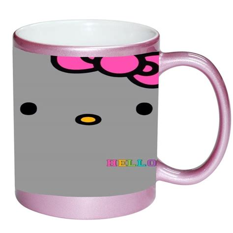 Whether you're looking to add to your collection or need a quick gift for a work friend, there's nothing like a custom coffee mug. Hello Kitty Face Pink Ribbon Design Print Image PINK 11 ounce Ceramic Coffee Mug Tea Cup by ...