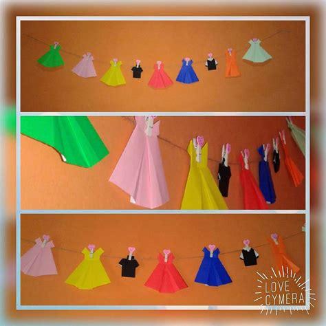 membuat hiasan dinding kamar  origami