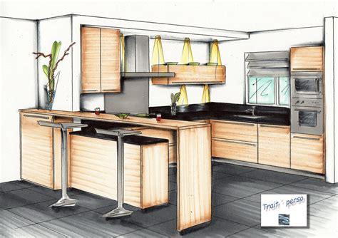 perspective cuisine dessin dessin à levée de votre projet trait 39 perso