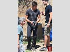 Zac Efron on the Set of