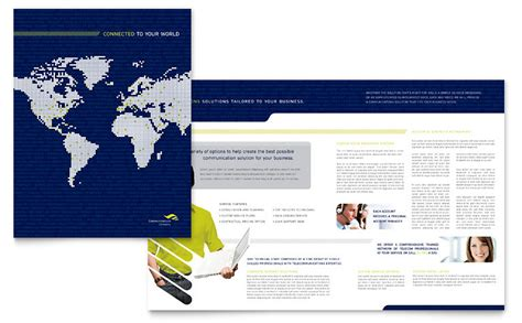 global communications company brochure template word