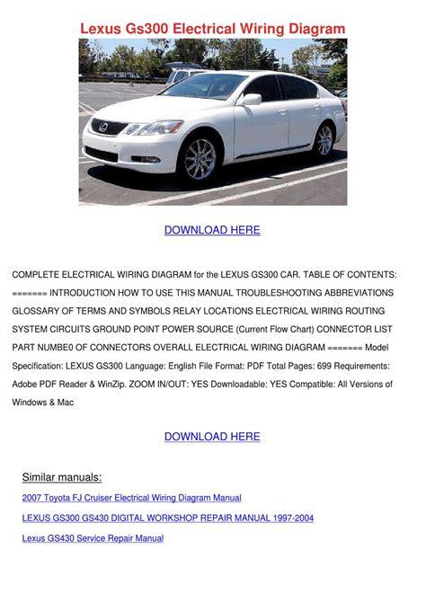 manual repair free 2001 lexus is security system lexus gs300 electrical wiring diagram by forrestegan issuu
