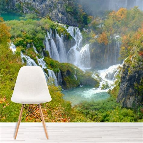 croatian waterfall wallpaper wall mural