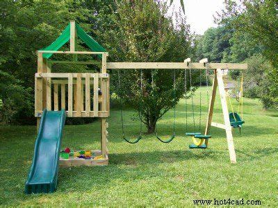 plans  kids wooden playset eric built  version