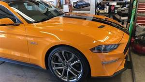 2018 Ford Mustang GT in Orange Fury with 10 speed automatic and wrapped roof. - YouTube