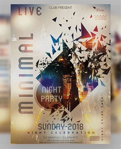 dj party poster templates  dj flyer psd flyer downloads