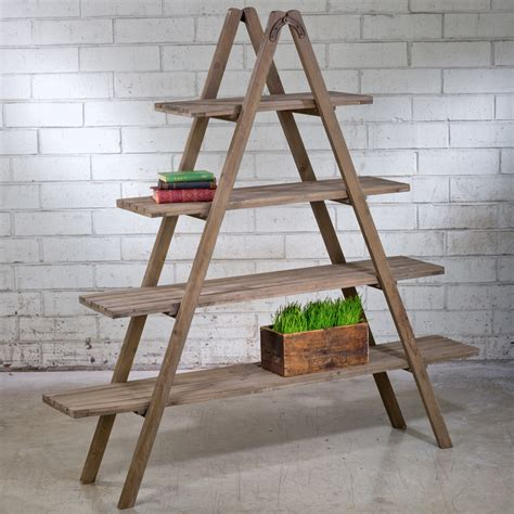 wood display for sale rustic wood ladder a