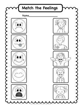 social emotional worksheets set  identifying feelings