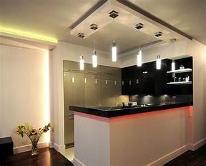 decoration cuisine plafond With d cor platre pour cuisine