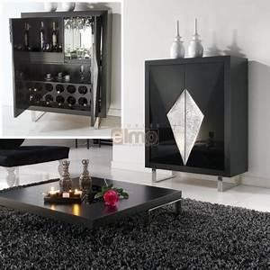 Meuble Tv Metal Noir : meuble bar design 2 portes laqu noir et argent pieds m tal decor3 ~ Teatrodelosmanantiales.com Idées de Décoration