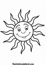 Coloring Sun Sunshine Moon Cartoon Smiling Adults Drawing Getcolorings Printable Getdrawings Simple Colorings sketch template